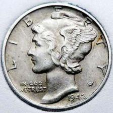 Buy 1942-P XF Mercury Dime