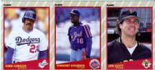 Buy 1989 Fleer Super Stars Lot: #16 Gibson, #17 Gooden, #18 Gott