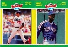 Buy 1989 Fleer Baseball MVP #13 Kirk Gibson & #14 Dwight Gooden