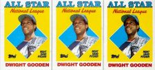 Buy Lot of 3 1988 Topps #405 Dwight Gooden AS