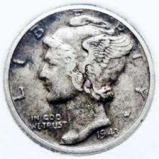 Buy 1943 VF Mercury Dime