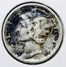 Buy 1937 Fine Mercury Dime