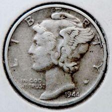 Buy 1944 XF Mercury Dime