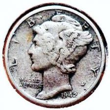 Buy 1942 VF Mercury Dime