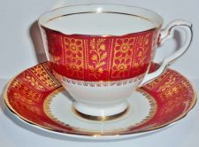 Buy Royal Stafford Fine Bone China Cup & Saucer Set, Burgundy & Gold