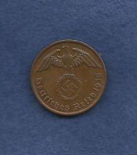 Buy Germany 2 Reichspfennig 1938A Nazi WWII Era Currency w/Swastika! Very Rare Coin!