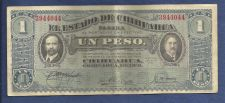 Buy Mexico CHIHUAHUA: 1 Peso 1914 Banknote No 3944044 Revolution Paper Money