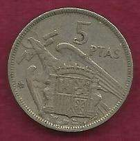 Buy Spain 5 PESETA 1957 Coin --