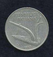 Buy Italy 1955 10 Cent D'Italia 10 Lire