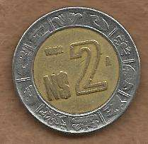 Buy Mexico $2 Peso 1992 BiMetal