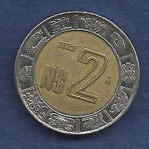 Buy Mexico $2 Peso 1993 BiMetal