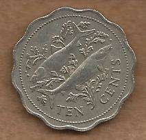 Buy Bahamas 10 Cents 1987 Coin!
