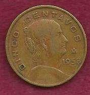 Buy Mexico Mexican 5 Centavos 1958 Coin