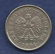 Buy Poland 50 Groszy 1991 Coin with Eagle! Nice Coin!