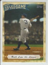 Buy BABE RUTH 2010 TOPPS MORE TALES OF THE GAME #MTOG-5