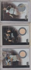Buy (3) CARD LOT OF 2004 BOWMAN STERLING BAT/JERSEY CARDS