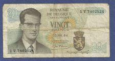 Buy Belgium 20 Francs 1964 P-138 Banknote V7402524- King Baudouin, Atomium Complex