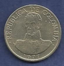 Buy Columbia 1 Peso 1977 Coin