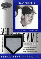 Buy 2001 Leaf Certified Materials Fabric of the Game #67 Hoyt Wilhelm (114/143) Jsy
