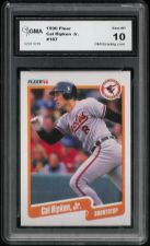 Buy 1990 Fleer Cal Ripkin Jr. #187 Graded GEM MINT 10 GMA