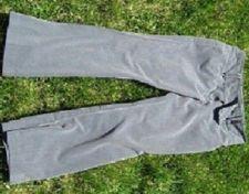 Buy Slate Gray Flare Leg Samantha Linen-look Slacks Size 11