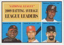 Buy 2010 Topps Heritage #41 batting average league leaders