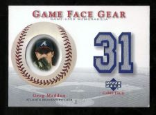 Buy Greg Maddux 2003 Upper Deck Game Face Gear Jersey Card #GM2