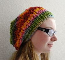 Buy Slouchy Hat Arrowhead Design Knitting Pattern Adult/Teen Size PDF File