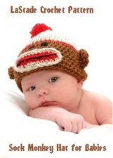 Buy Sock Monkey Hat Crochet Pattern for Baby PDF Pattern