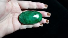 Buy Loose Rare & Natural & Untreated Oval Cut Faceted Green Emerald