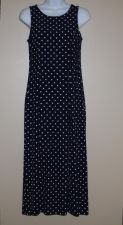 Buy Vintage Navy & White Polka Dot Maxi Sundress My Michelle 7/8