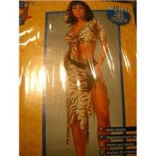 Buy Sexy Jungle womans Costume Tarzan Jane animal print 3 piece sz 10-14