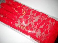 Buy Red lace wrist glove 6 pair shipping free prom wedding dance holiday woman teen