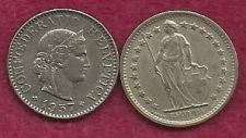 Buy Switzerland 2 Coin Lot, 1/2 Frank 1970 & 5 Rappen 1957 - SPECIAL! - Two Coins!