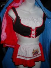 Buy Red Riding Hood womans sexy costume 3 piece size m/l Cherry red LEG Avenue Brand