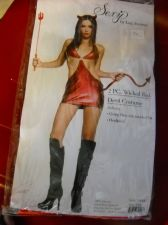 Buy Wicked red devil womans costume sexy 2 PC leg avenue brand really small size