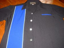 Buy Casino Wear Mens Shirt Dice Buttons Sz Med Black Blue USA made USA seller ships fast