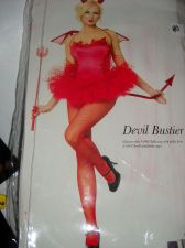 Buy Leg Avenue Devil Bustier Corset red lace up sides size med 34 boned true red