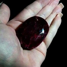 Buy Loose Rare Natural Huge! Oval Cut Blood Red Ruby Stunning