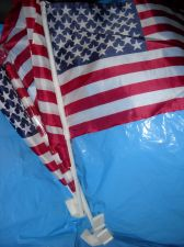 Buy Car Window American Flag 17 x 12 nylon outdoor stick with clip USA parade