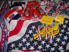Buy USA bows Bandanna Key chain wrist sweat band lanyard scarf Wholesale lot 22 pc