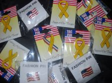 Buy Tac pin Support our Toops Ribbon USA American Flag 12 lot pins USA seller