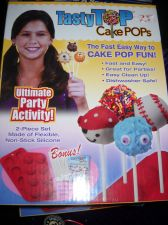 Buy Cake Pops cup cake pop bakeware bonus decorating guide 2 PC silicone seen on TV