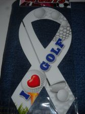 Buy I Love golf Golf Magnet 6 Ribbon car golf cart gift team 8 inch wholesale 6 lot
