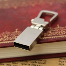 Buy 32GB ELEGANT METAL SILVER BUCKLE USB 2.0 FLASH DRIVE