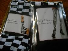 Buy Leg Ave checkerboard racing thigh-highs & arm warmers woman car race fashion