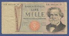 Buy ITALY MILLE LIRE 1969 Banknote SB 607146 D - Giuseppe Verdi