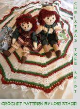 Buy Christmas Tree Skirt Crochet Pattern PDF FILE