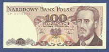 Buy Poland 100 Zlotych 1986 Banknote #0218422, UNC
