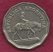 Buy ARGENTINA 10 Pesos 1963 EQUESTRIAN COIN-GAUCHO
